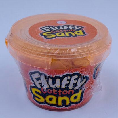 fluffy cotton sand som er let at forme samt mega stretchy og blødt i orange
