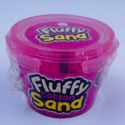 fluffy cotton sand som er let at forme samt mega stretchy og blødt i pink