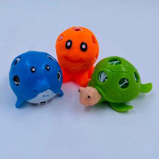 havdyr stressbolde som lille fidget toy der er sød og hjælper med stress samt behagelige at røre ved i 3 varianter og 3 farver små gaver til børn