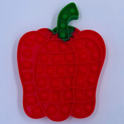 sjove pop it fidget toys peberfrugt og citron blanding grøntsager roed