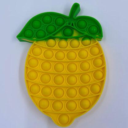 sjove pop it fidget toys peberfrugt og citron blanding grøntsager gul