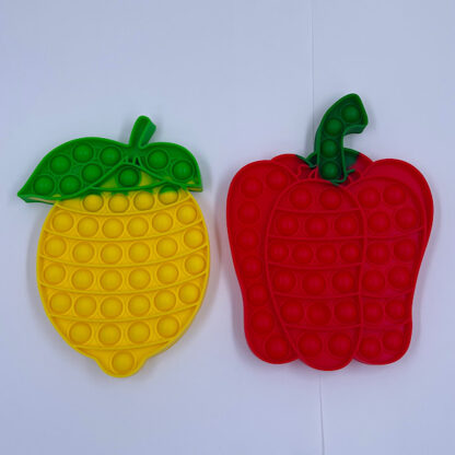 sjove pop it fidget toys peberfrugt og citron blanding grøntsager og grønt