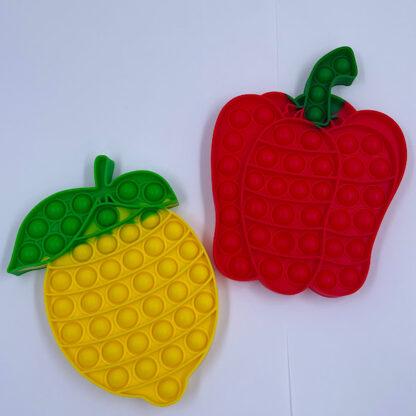 sjove pop it fidget toys peberfrugt og citron blanding grøntsager