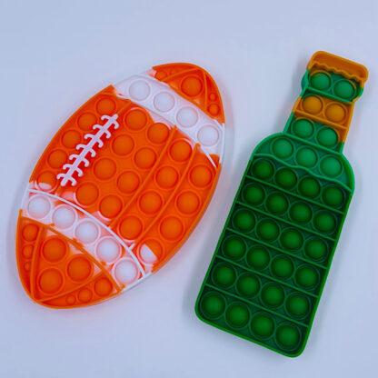 Pop it øl og amerikansk fodbold fidget toy