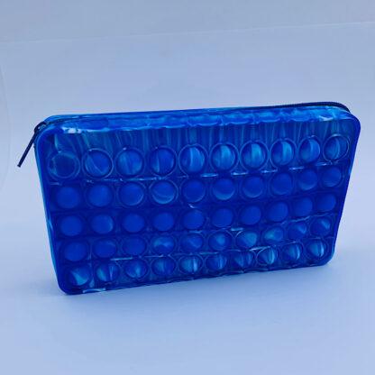 Pop it penalhus med lynlås blå Fidget Toy