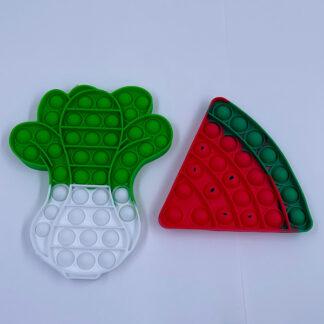 Pop it roe eller vandmelon stykke fidget toy