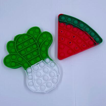 Pop it vandmelon stykke eller roe fidget toy
