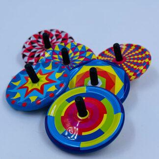 Snurretop fra Schylling Tiny Tin Tops Farveskift Små gaver